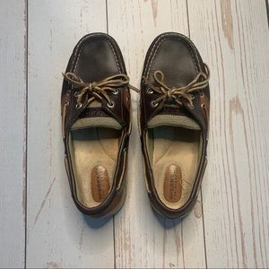 Sperry - Dark Leather Women's Boat Shoes